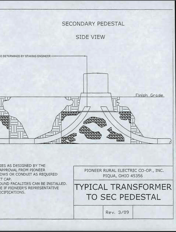 Trench - Transformer to Secondary Pedestal