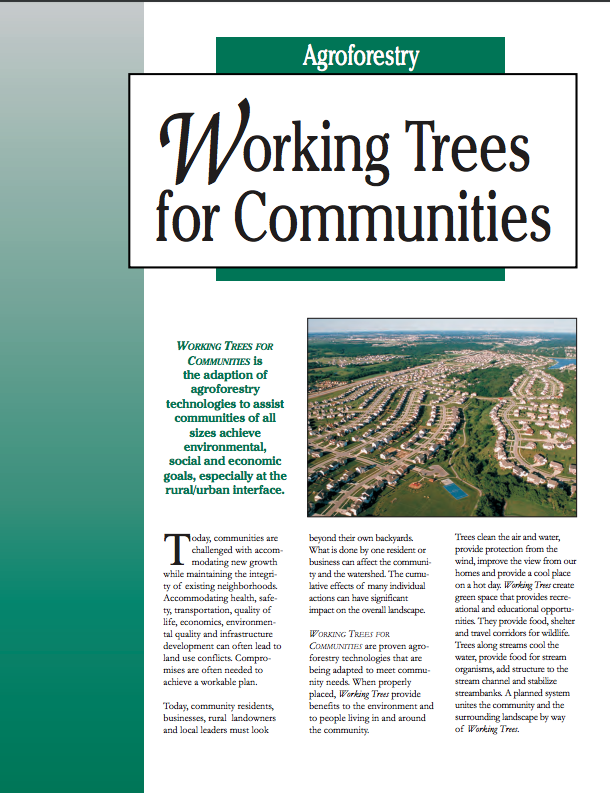 Working Trees for Communities